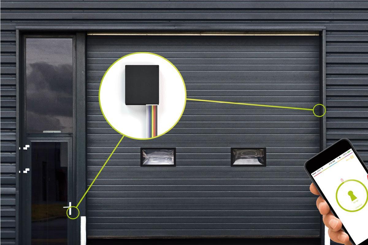 odpiranje garažnih vrata z elektronsko ključavnico